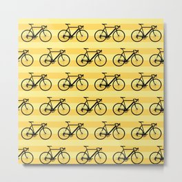 Bicycle pattern Metal Print