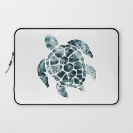 Sea Turtle - Turquoise Ocean Waves Laptop Sleeve