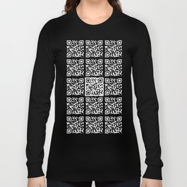 QR Clothes Black Long Sleeve T-shirt