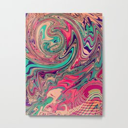 Graphic 882 // Psych Twist Metal Print