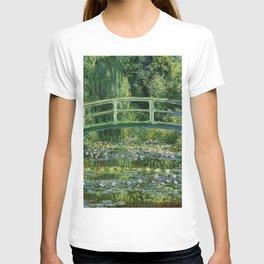 Water Lilies and Japanese Footbridge, Claude Monet T-shirt