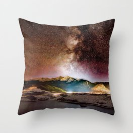 Milky Way Grainy Detail // Amazing Shot of the Galaxy in Colorado Long Exposure Star Gazing Photo Throw Pillow