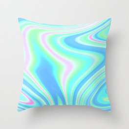 Abstract Holographic Iridescent Throw Pillow