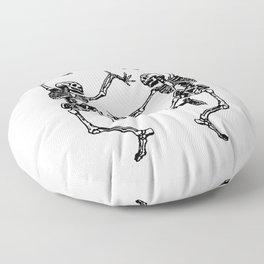 Duo Dancing Skeleton Floor Pillow