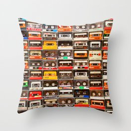 Something Nostalgic V - Music - Global Language #decor #society6 #buyart Throw Pillow