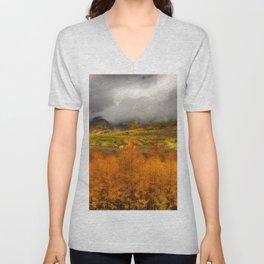 Colorado Fall Colors Unisex V-Neck