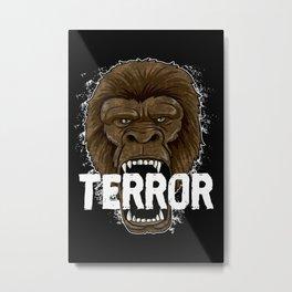 Terror Monkey   Rampage Gorilla Metal Print
