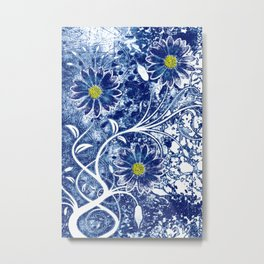 Blue China Metal Print