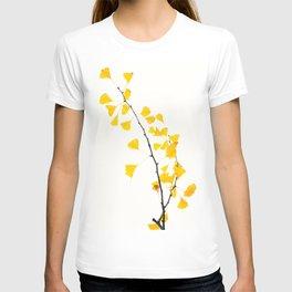 gingko biloba branch T-shirt