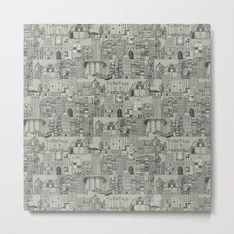 dystopian toile mono Metal Print