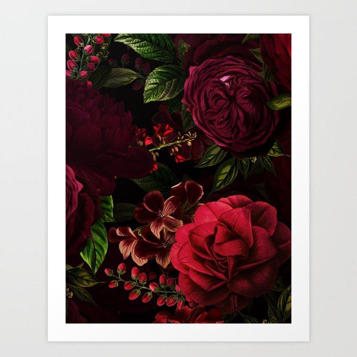 Vintage & Shabby Chic - Vintage & Shabby Chic - Mystical Night Roses Kunstdrucke
