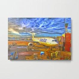 Iran Air Airbus A330 Pop Art Metal Print