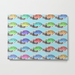 Swimming Fishies Metal Print