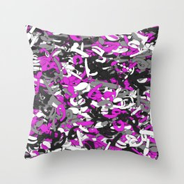 Sextoys camouflage Throw Pillow