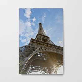 Sunny Eiffel Tower Metal Print