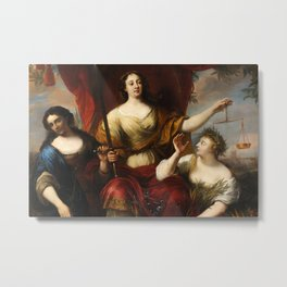 Prudence, Justice, and Peace by Jürgen Ovens, 1662 Metal Print
