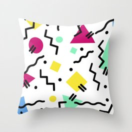 80s Confetti Throw Pillow