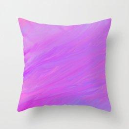 A Delightful Mix - Purple/Blue/Pink Throw Pillow