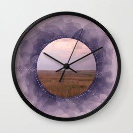 Landscape Series Purple Wall Clock