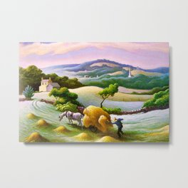 Classical Masterpiece 'Chilmark Hay' by Thomas Hart Benton Metal Print