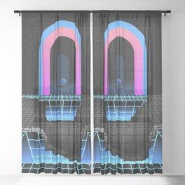 DÉTRUIT 1984 Sheer Curtain