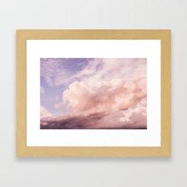 Perfect Pink Summer Sky Nature Photography Gerahmter Kunstdruck