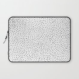 Dotted White & Black Laptop Sleeve
