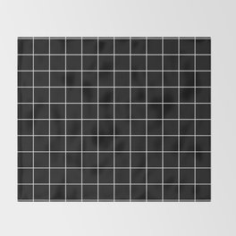 Grid Pattern Line Stripe Black and White Minimalist Geometric Stripes Lines Throw Blanket
