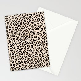 BLACK and WHITE LEOPARD PRINT – Ecru | Collection : Leopard spots – Punk Rock Animal Prints. Stationery Cards
