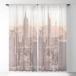 NEW YORK CITY SUNSET Sheer Curtain