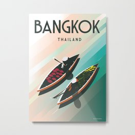 Bangkok Thailand  Vintage Travel Poster   Enhanced Matte Paper perfect for your wall Instant Digital Metal Print