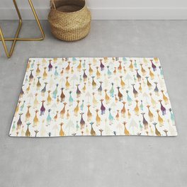 Giraffe of a different Color: white background Rug