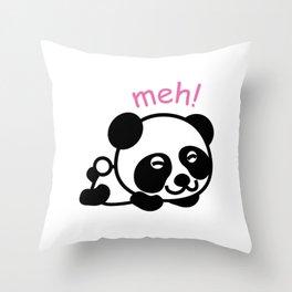 Sleepy Panda Funny Tired Bear Wildlife Sleepy Head Lazy Animals Gift Throw Pillow