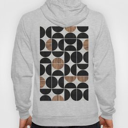 Mid-Century Modern Pattern No.1 - Concrete and Wood Hoody
