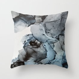 Smoke Show - Alcohol Ink Painting Throw Pillow