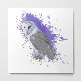 Explosive Owl Metal Print