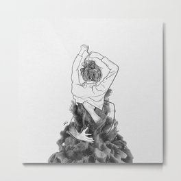 I want to know you little more deep. Metal Print