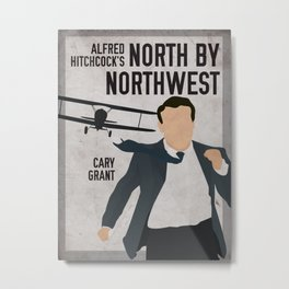 Alfred Hitchcock's North By Northwest Movie Print Metal Print