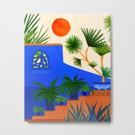 Southwest Summer Garden / Desert Landscape Metal Print