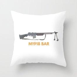 M1918 BAR Throw Pillow