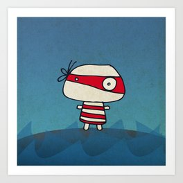 Red Pirate Art Print