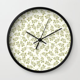 Green Foliage – Floral Heart Collection Wall Clock