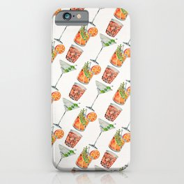 Classic Cocktails  – 1960s Watercolor Lineup iPhone Case
