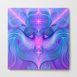 Dreaming Frequency Temple Metal Print