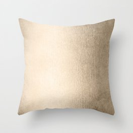 White Gold Sands Throw Pillow