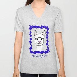 Alpaca Love - Be happy! Unisex V-Neck