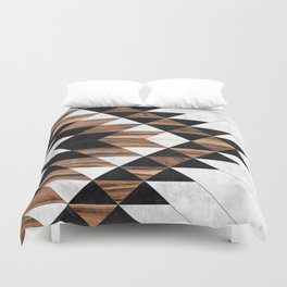 Urban Tribal Pattern No.9 - Aztec - Concrete and Wood Duvet Cover