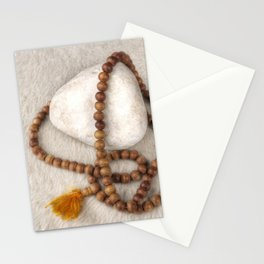 Spirituality. Tibetan mala beads. Stationery Cards