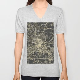 Cincinnati map Unisex V-Neck