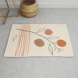 Minimalist abstract nature leaf 1 Rug